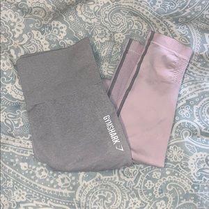 Gymshark ombré seamless leggings chalk pink & grey